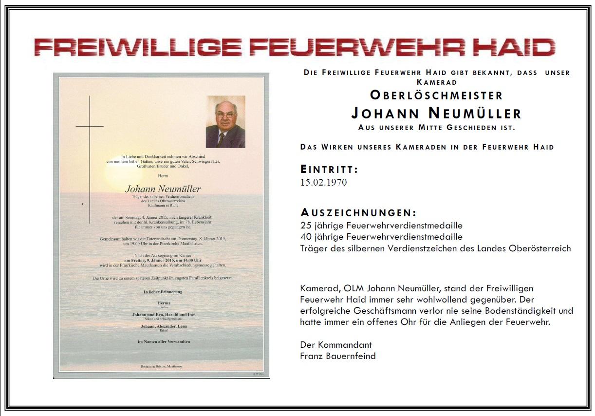 OLM Johann Neumüller sen.