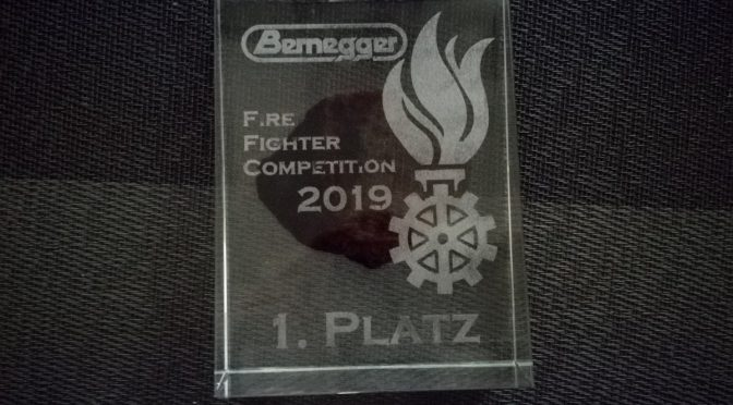 1. Platz bei der Bernegger Firefighter Competition