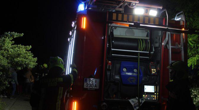 Brandeinsatz Pelletsheizung Marbach