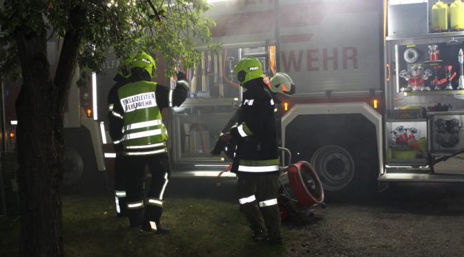 Brandeinsatz – Abfallcontainer